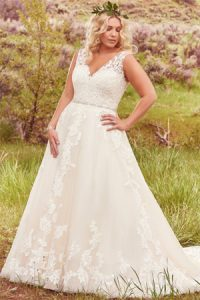 Curve bridal gowns